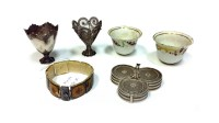 Lot 1154-LOT OF PERSIAN SILVER including a trefoil...