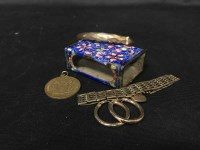 Lot 9-GROUP OF GOLD AND COSTUME JEWELLERY including a...
