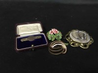 Lot 45-LOT OF COSTUME JEWELLERY including some gold,...