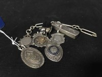 Lot 51-LOT OF SILVER including: pig pin cushion;...