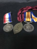 Lot 52-THREE SERVICE MEDALS AWARDED TO SPR J. SLAVEN...
