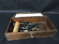 Lot 54-REPRODUCTION BRASS SEXTANT IN WOOD BOX along with ...