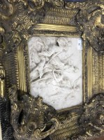 Lot 56-RELIEF PLAQUE IN ORNATE GILT FRAME